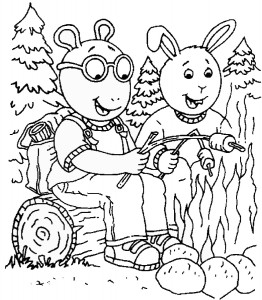 Arthur Cartoon Coloring Pages