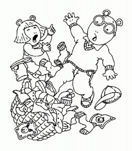 Arthur Character Coloring Pages