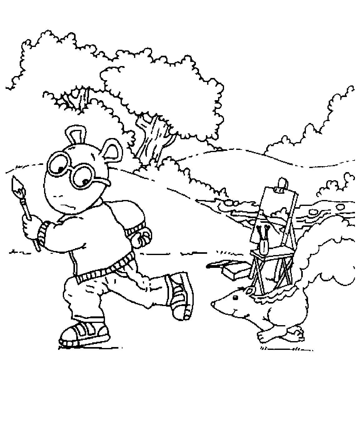 coloring pages for arthur - photo #25