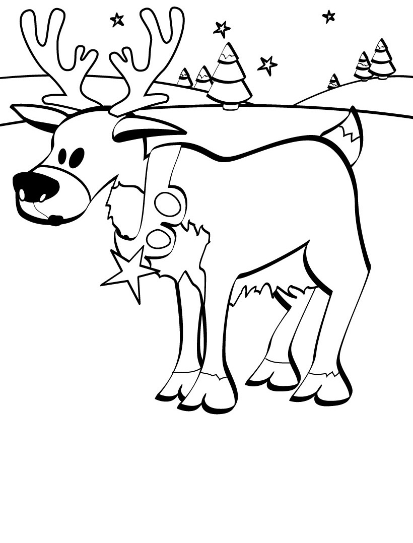 Free coloring pages of baby reindeer