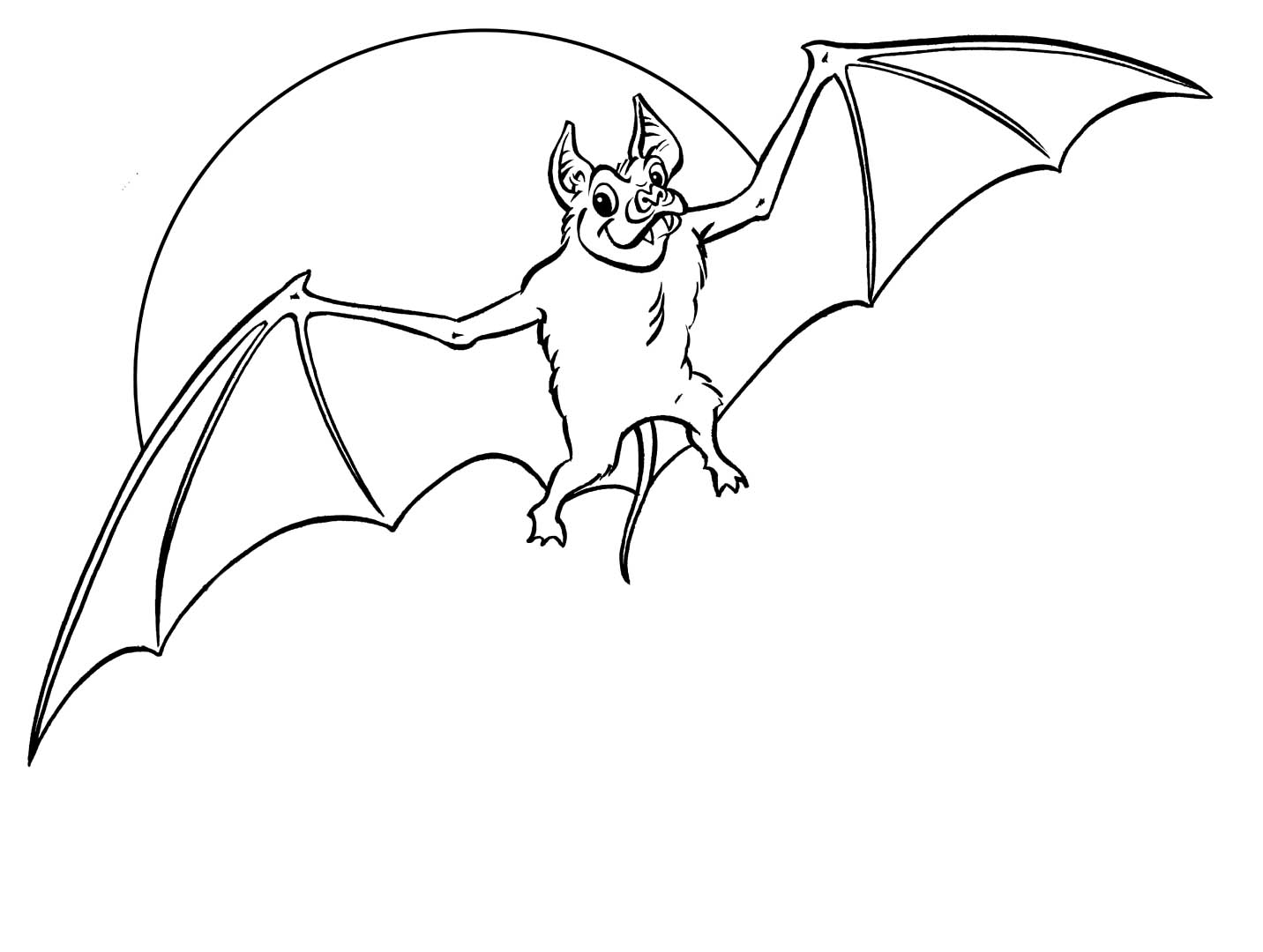 Printable Bat Coloring Pages Me
