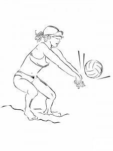 Beach Volleyball Coloring Pages