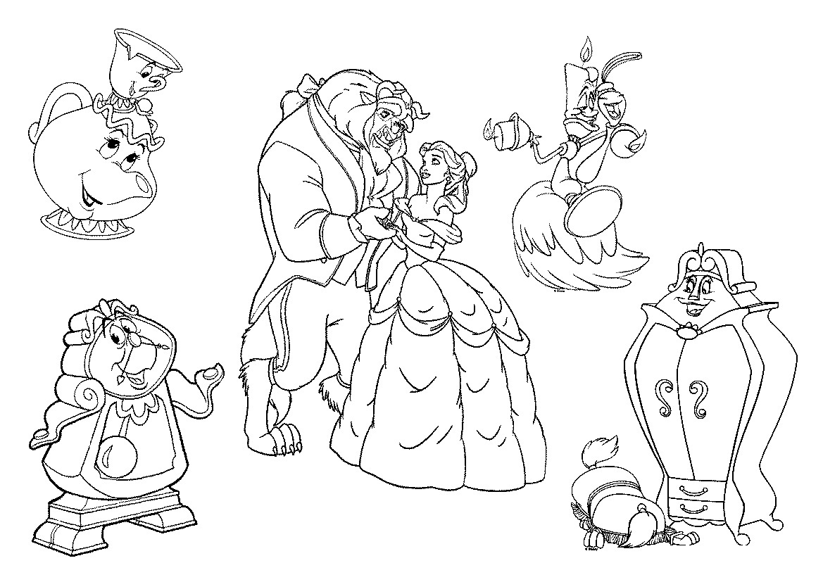 Printable Beauty And The Beast Coloring Pages Me