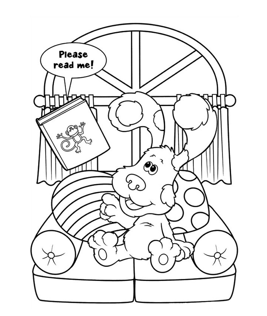 Blues Clues Coloring Pages Printable Blue's Clues Coloring Pages  Coloring Me
