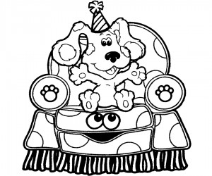 Blues Clues Birthday Coloring Pages