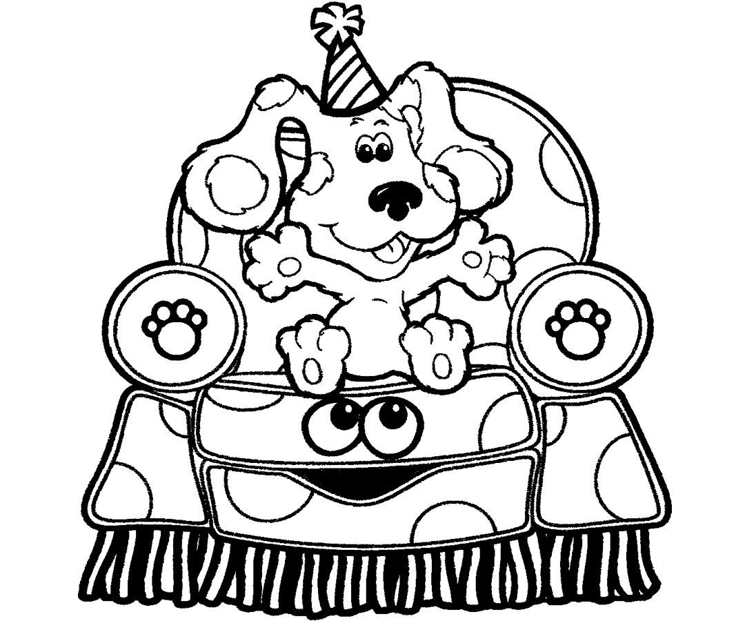 Adult Best Blue Clues Coloring Pages Images cute blues clues color page cartoon characters coloring pages birthday images