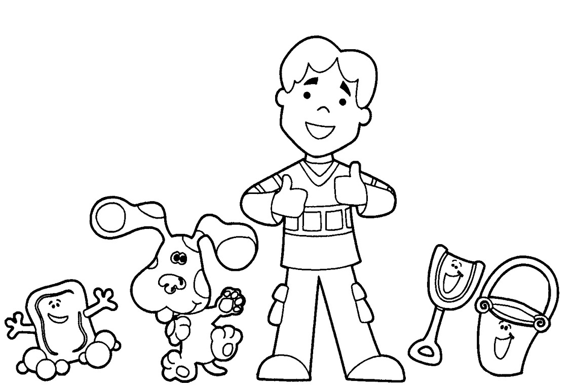 blues clues coloring pages online - photo#7