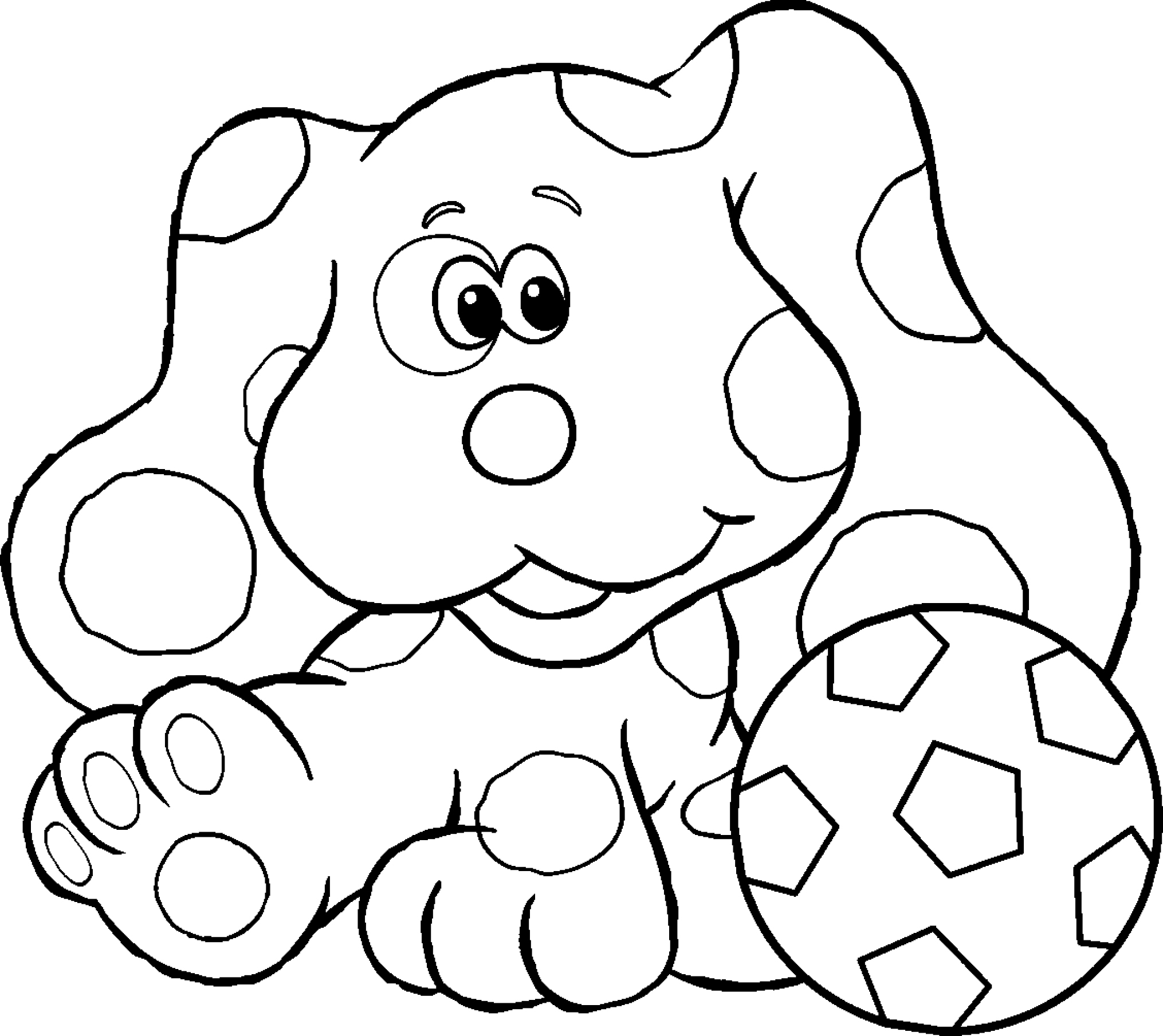 blue dog coloring pages - photo#16