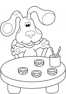 Blues Clues Free Coloring Pages