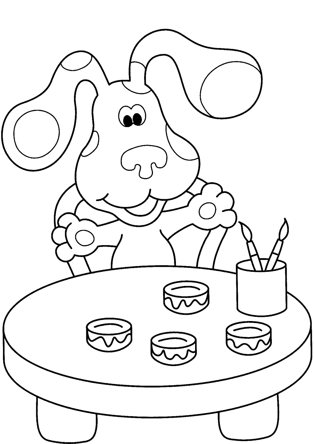 Printable Blues Clues Coloring Pages Coloring Me