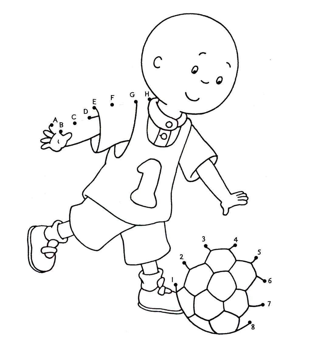 coloring page caillou pages and gilbert s perucl