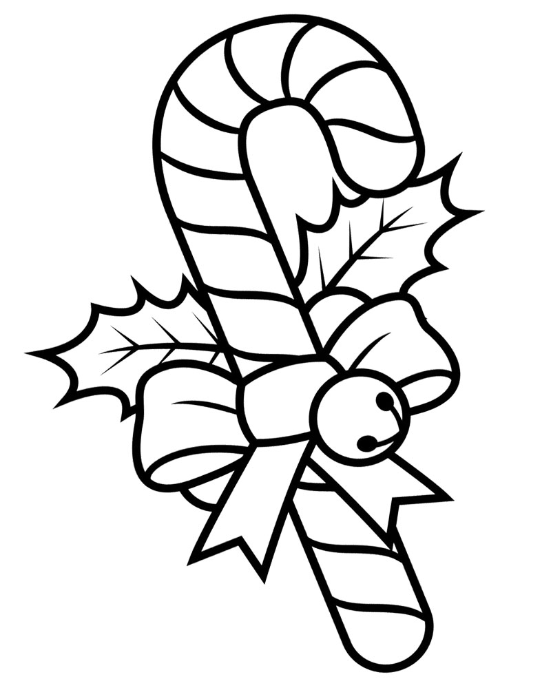 large candy cane coloring pages - photo#21