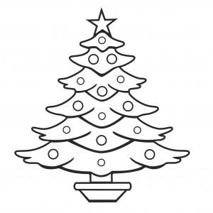 Christmas Tree Color Page