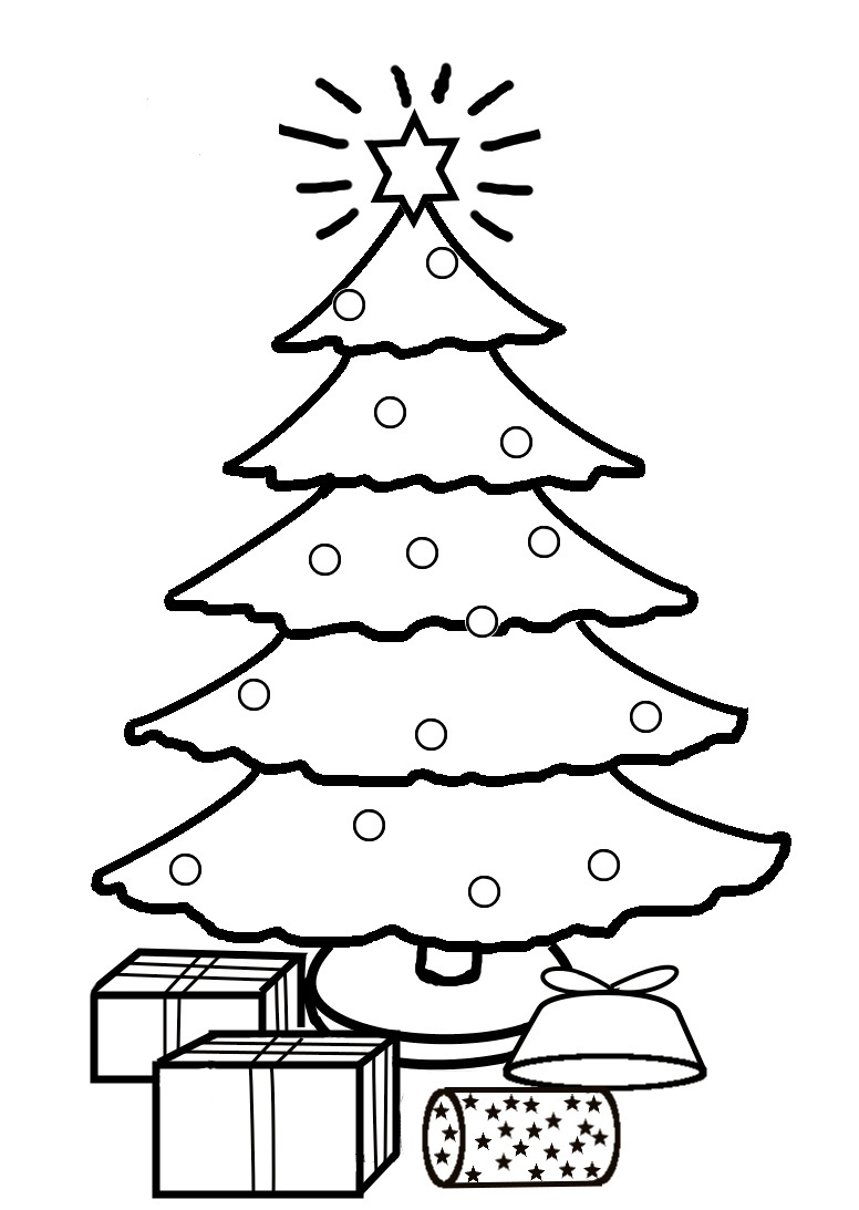 small christmas tree coloring pages - photo#12