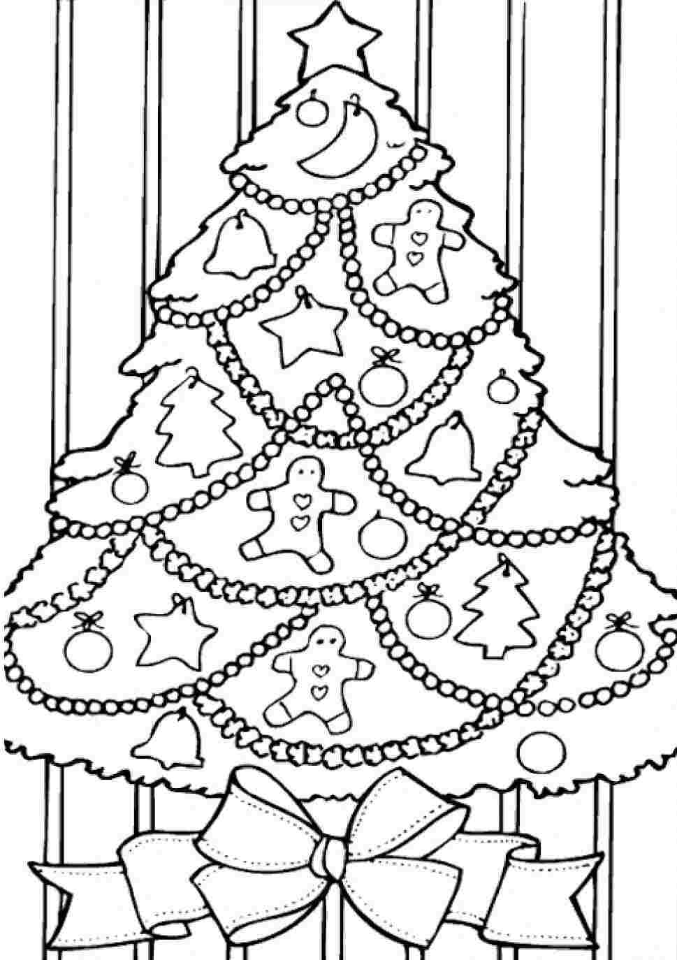 Kids coloring pages christmas trees printable - Christmas Tree Coloring Pages For Kids