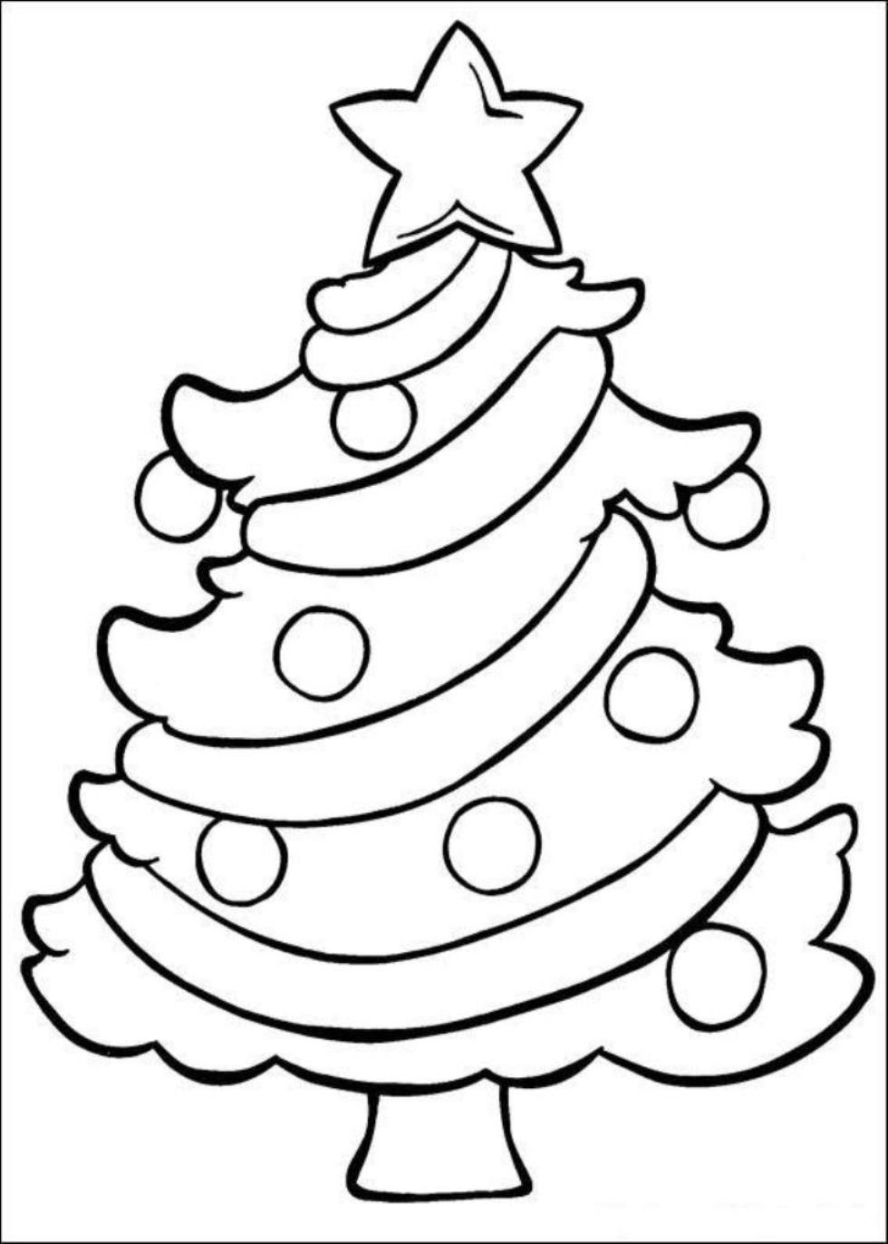 Christmas Tree Coloring Pages Free