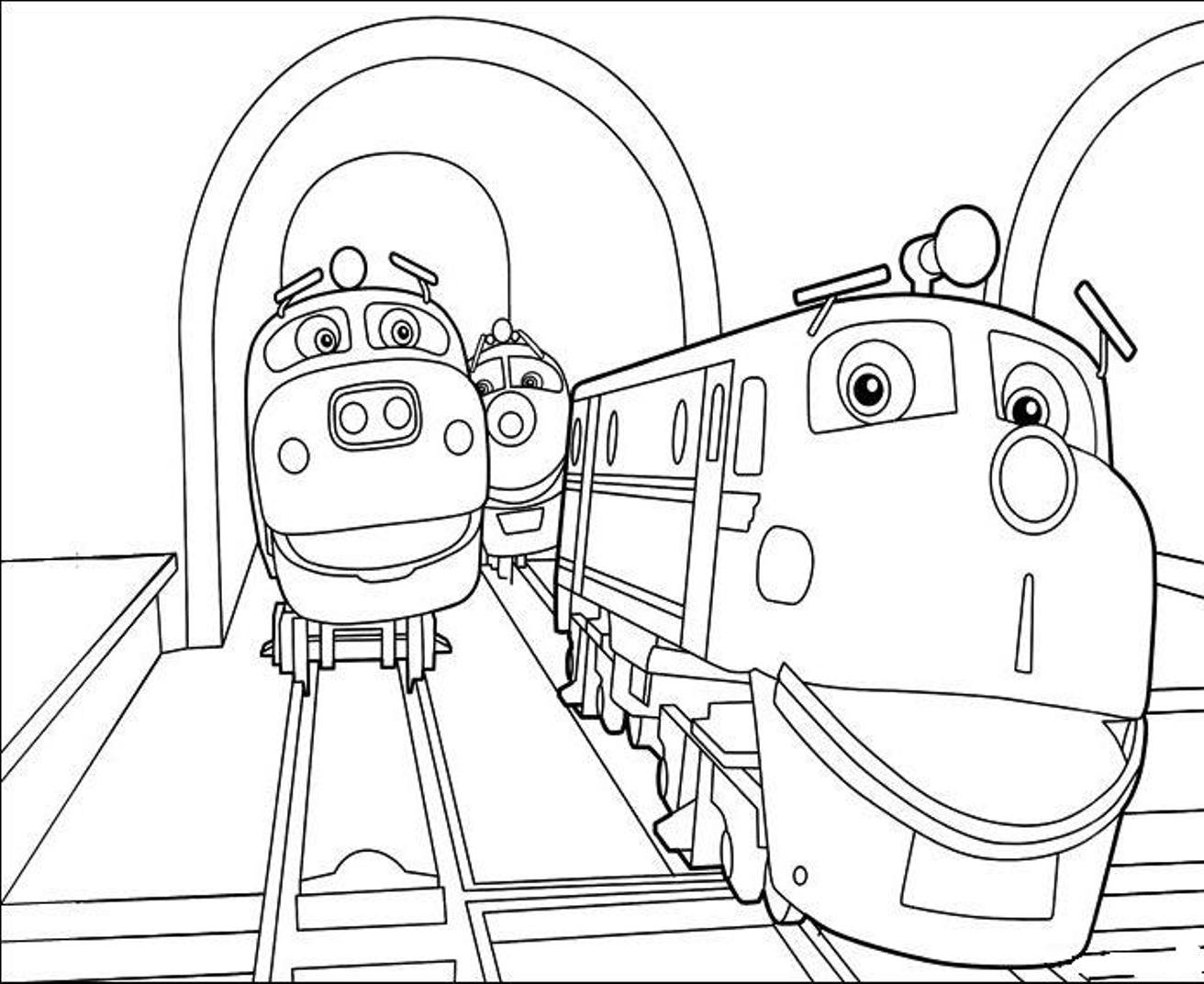 chuggington coloring sheets