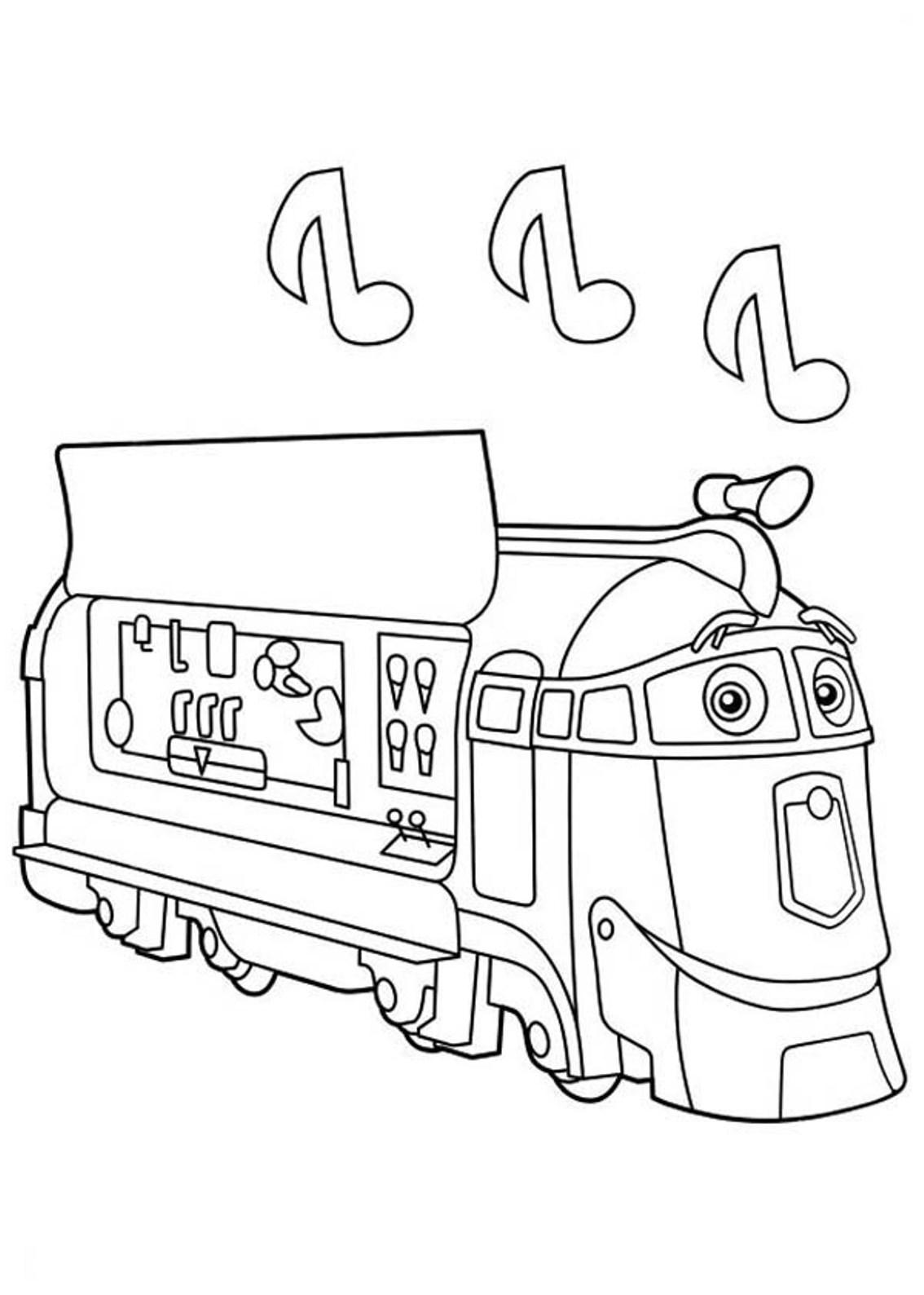 chuggington harrison coloring page