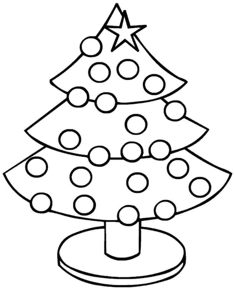 Printable Christmas Tree Coloring Pages | Coloring Me