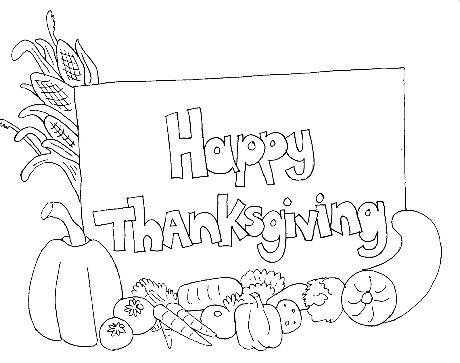 98 Thanksgiving Card Coloring Page