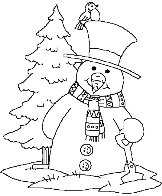 snowmen coloring pages children - photo#31