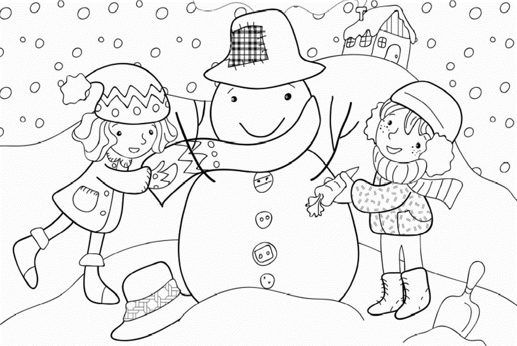 Printable Winter Coloring Pages Coloring Me Winter Time Coloring Pages