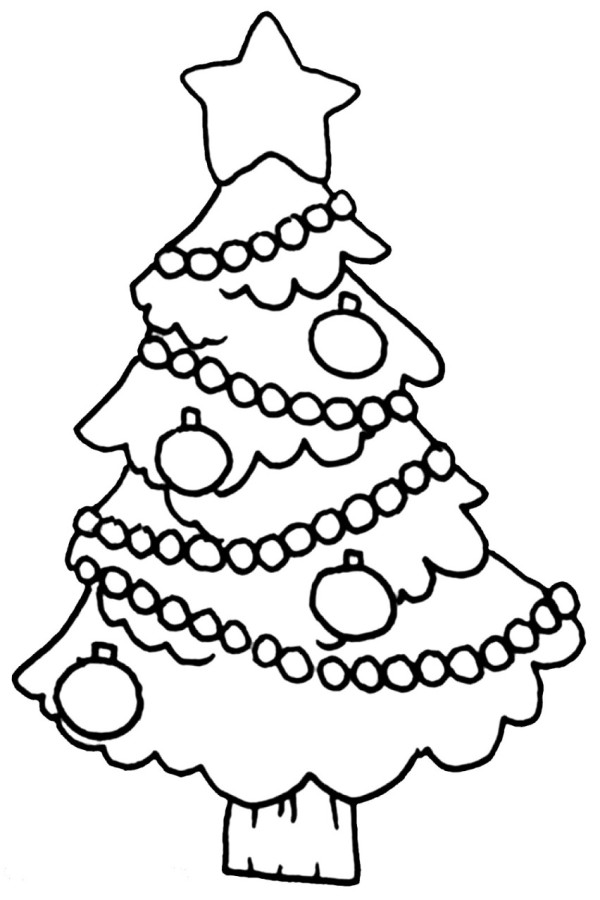 Decorated Christmas Tree Coloring Pages Tree Decorations Coloring Pages