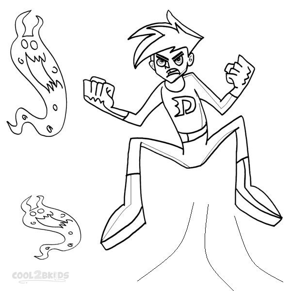 danny phantom printable coloring pages - photo#9