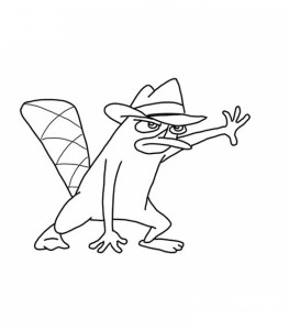 Coloring Pages of Perry the Platypus