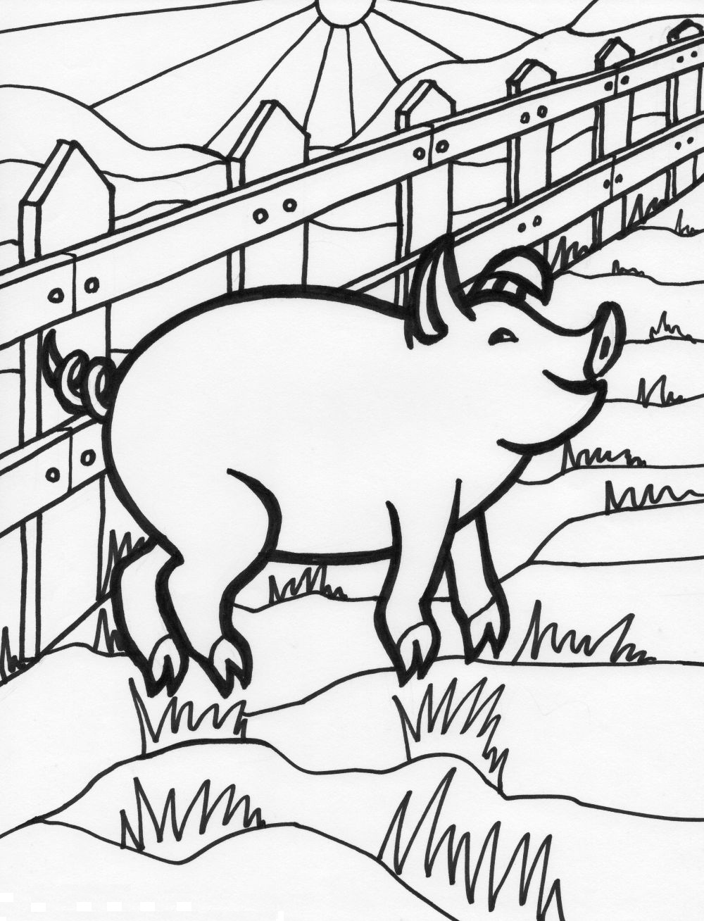 Adult Best Coloring Pages Pig Images cute carrot coloring pages adults pig of images