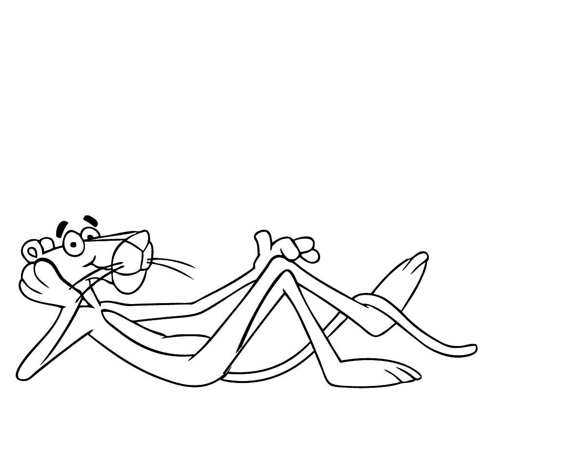 coloring pages of pink panther
