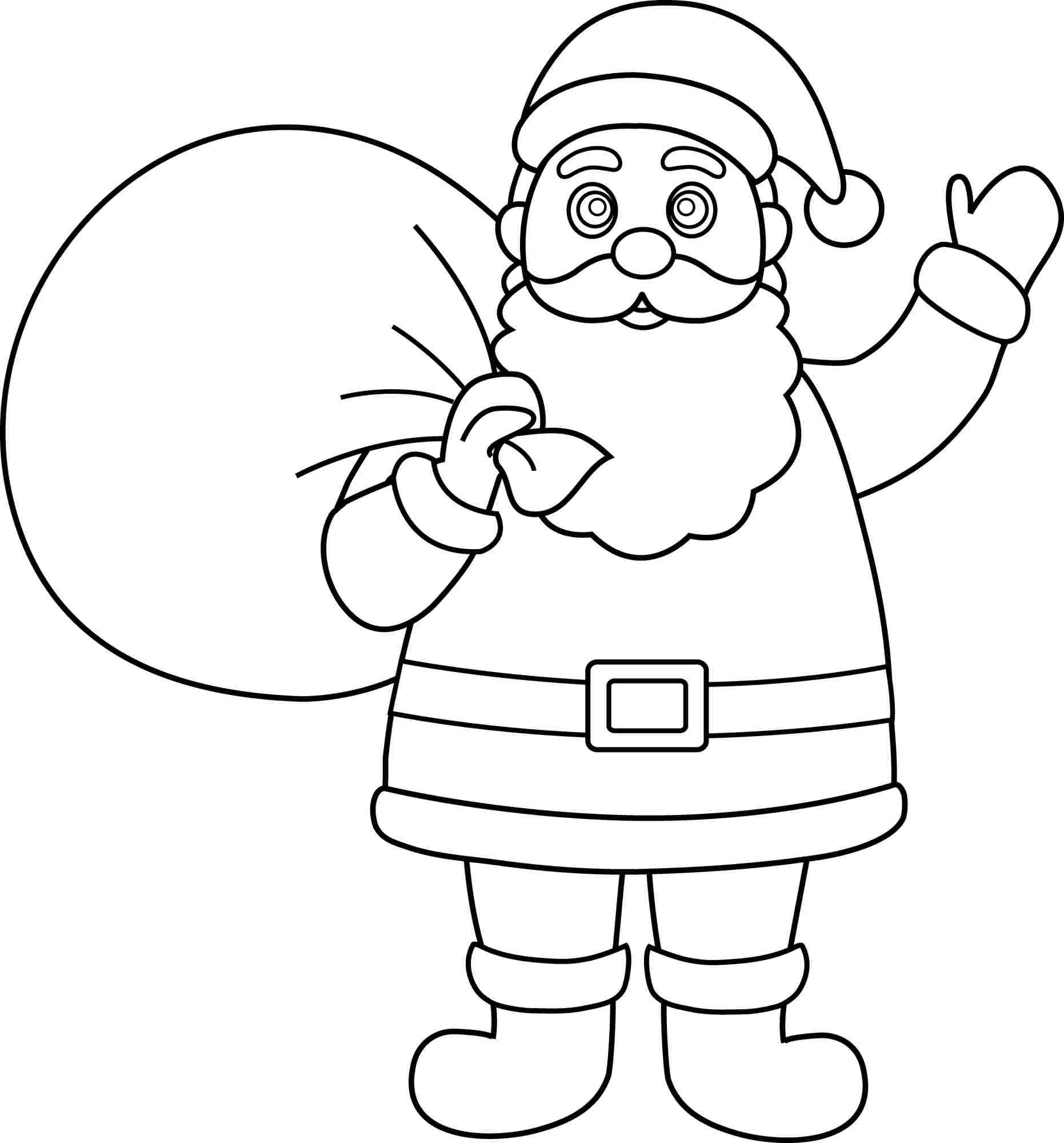 santa picture coloring pages