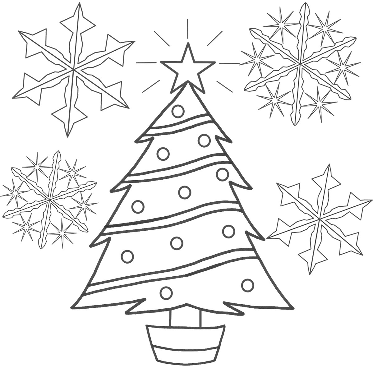 Cute Christmas Tree Coloring Pages