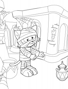 Cute Mummy Coloring Page