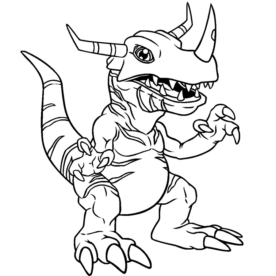digimon agumon coloring pages - Digimon Coloring Pages