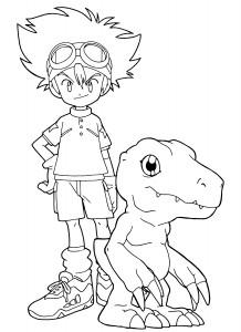 Digimon Coloring Sheets