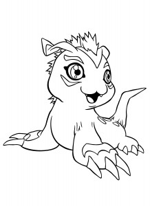 Digimon Free Coloring Pages