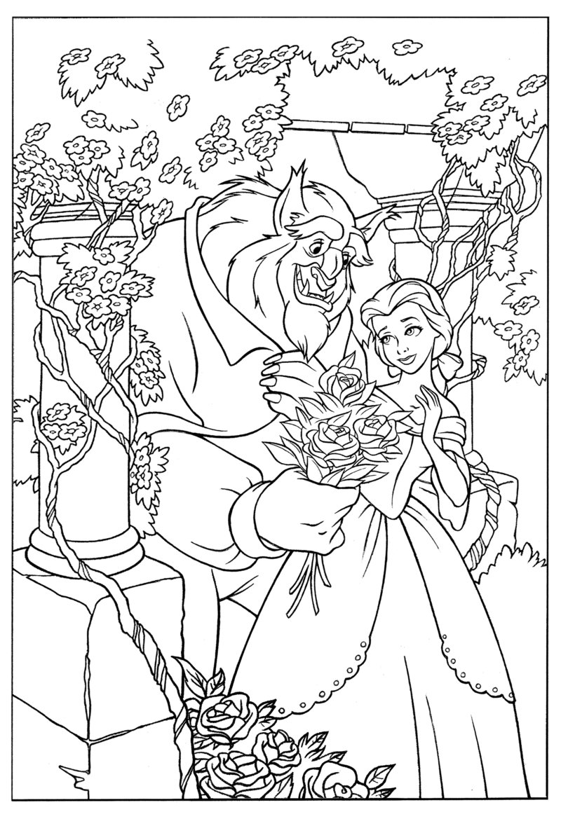 Coloring Pages Beauty And The Beast : Beauty and the beast coloring pages