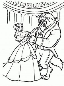 Disney Beauty and the Beast Free Coloring Pages