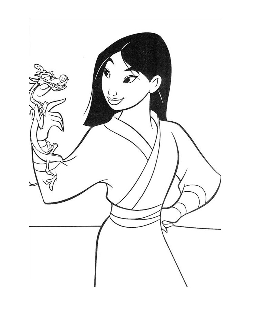 disney coloring pages mulan - photo #27