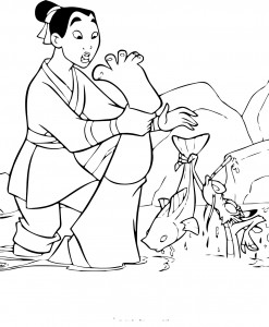 Disney Mulan Free Coloring Pages