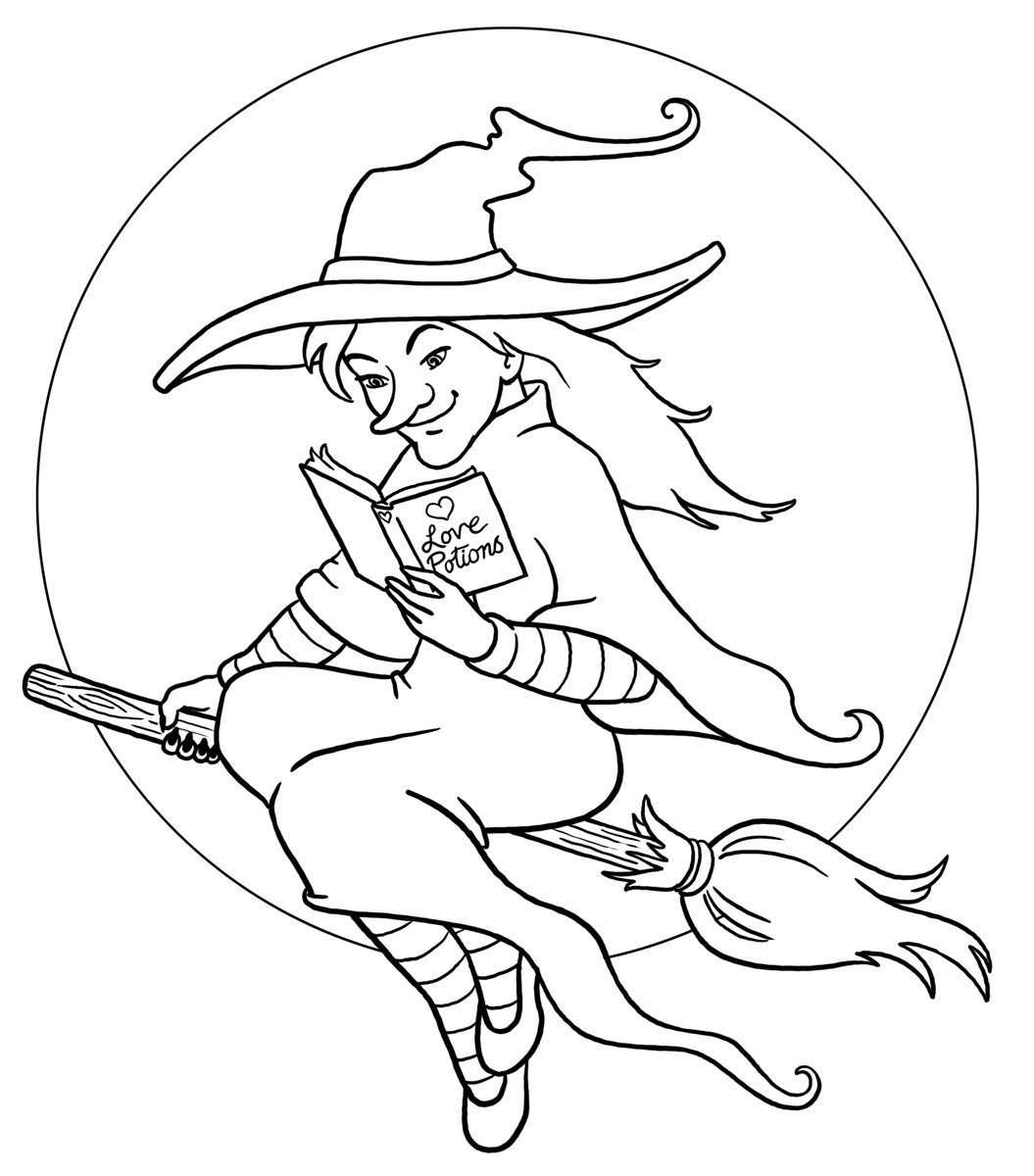 Witch coloring pages for Coloring pages of witches