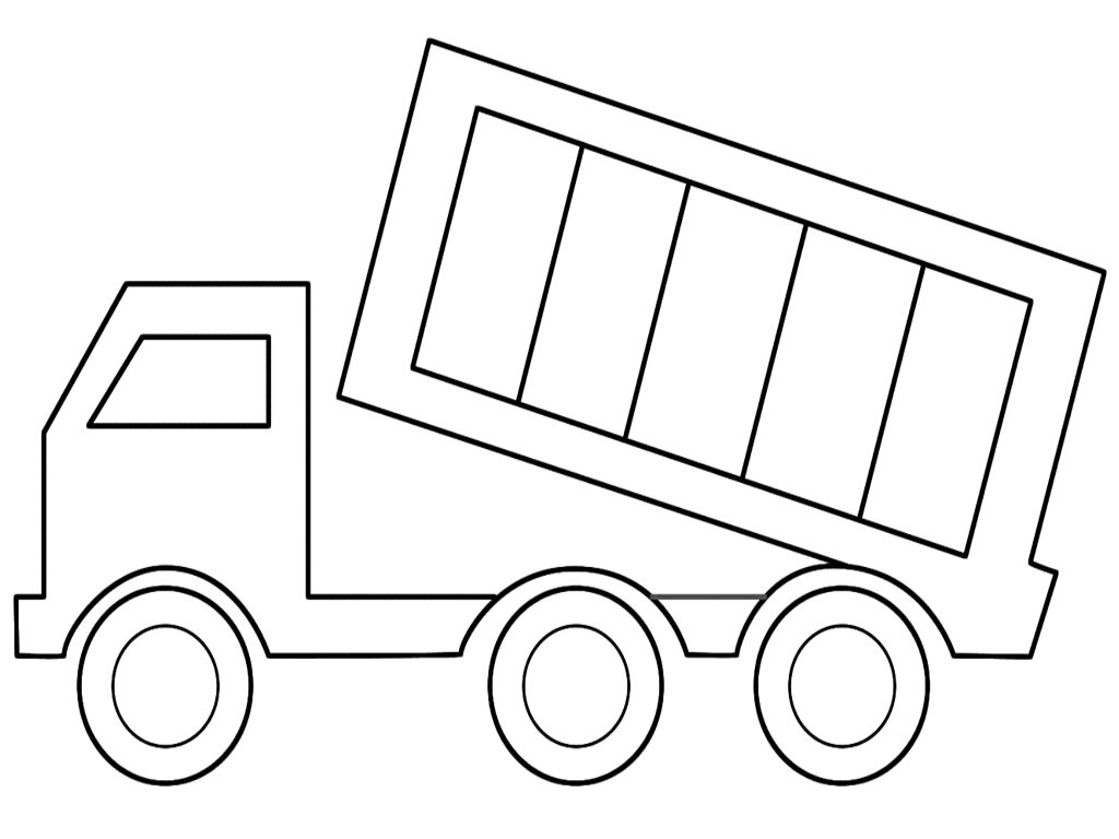 Printable coloring pages construction vehicles - Dump Truck Coloring Sheets