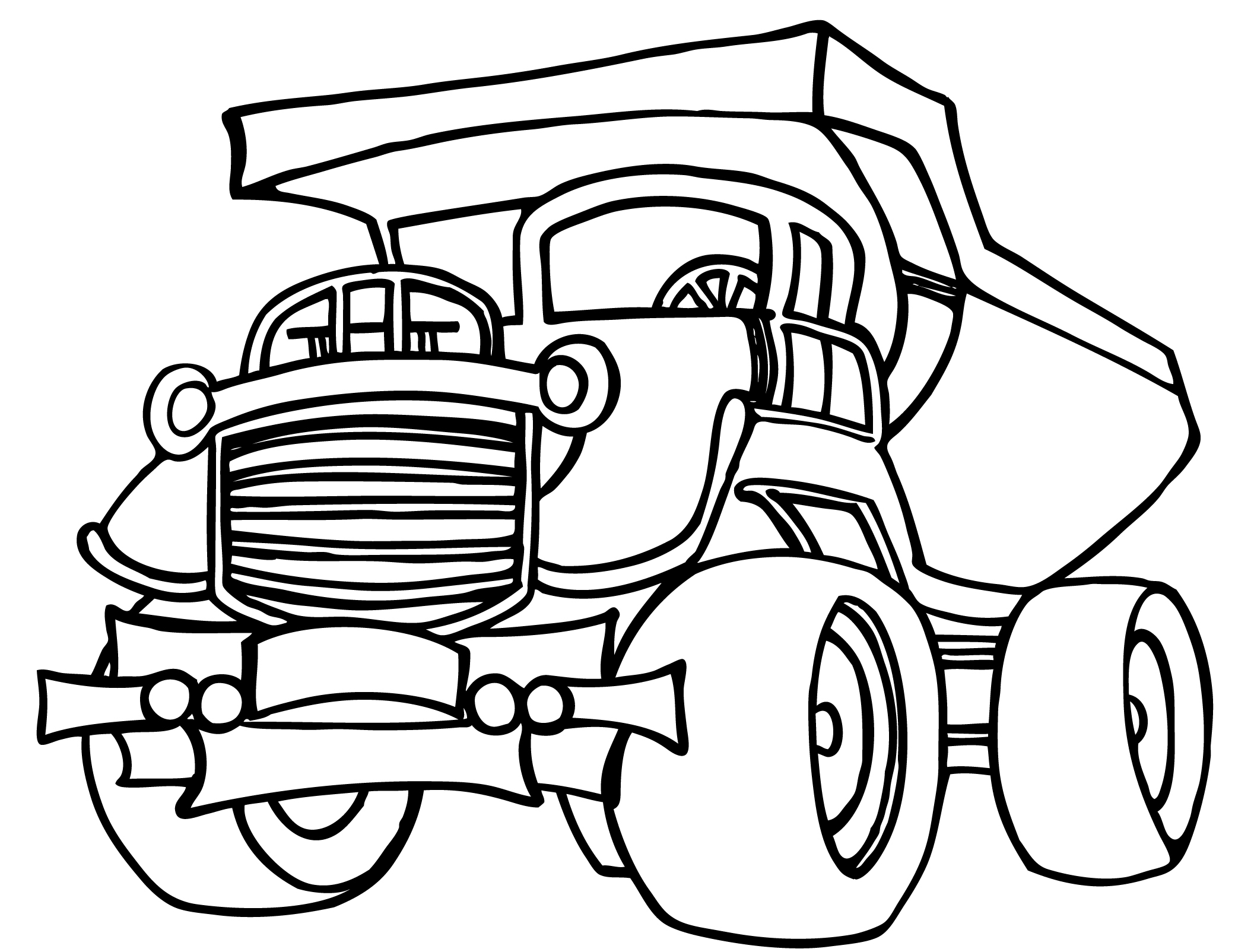 dump truck coloring pages online - photo#7