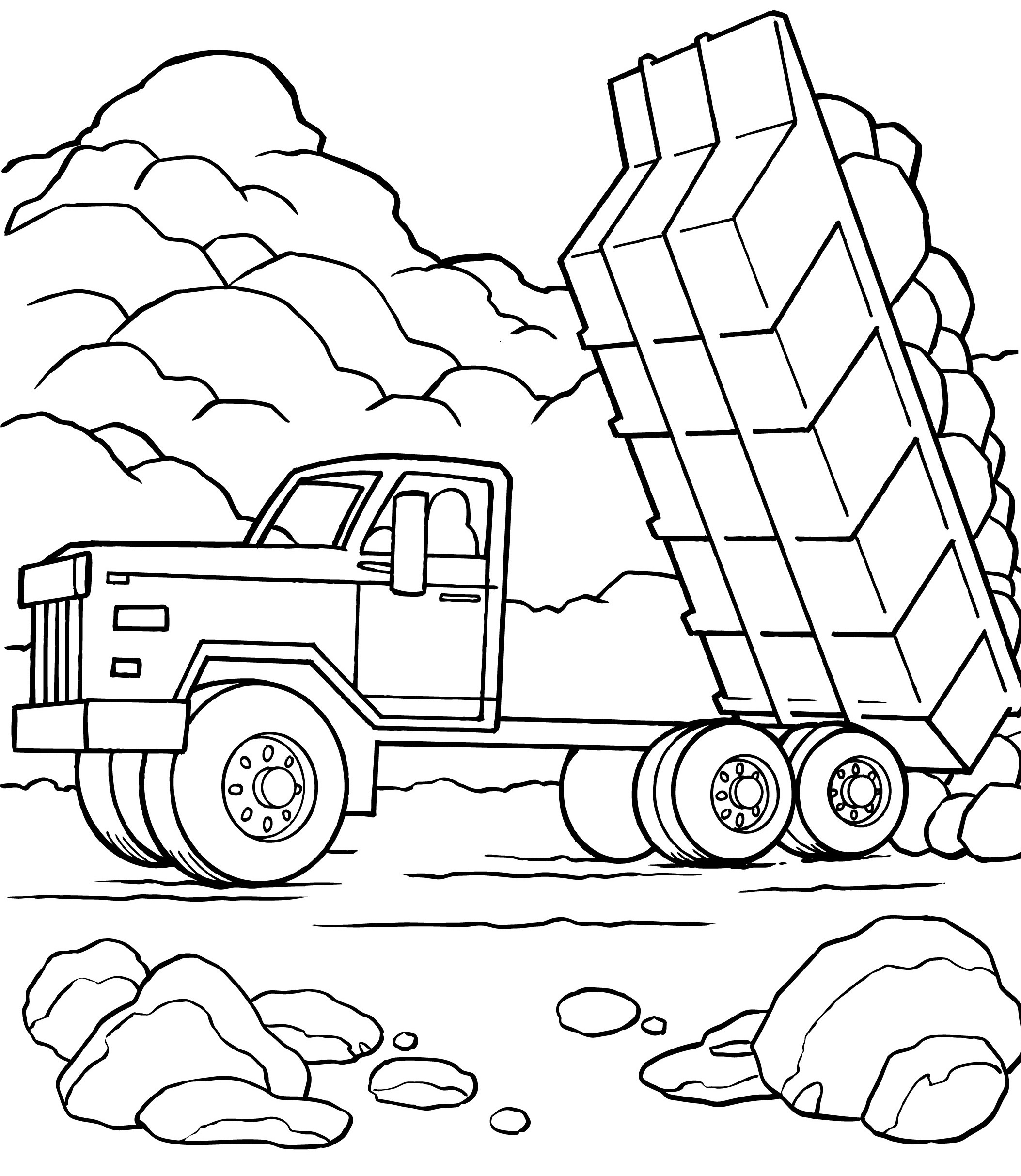 dump truck coloring pages online - photo#8
