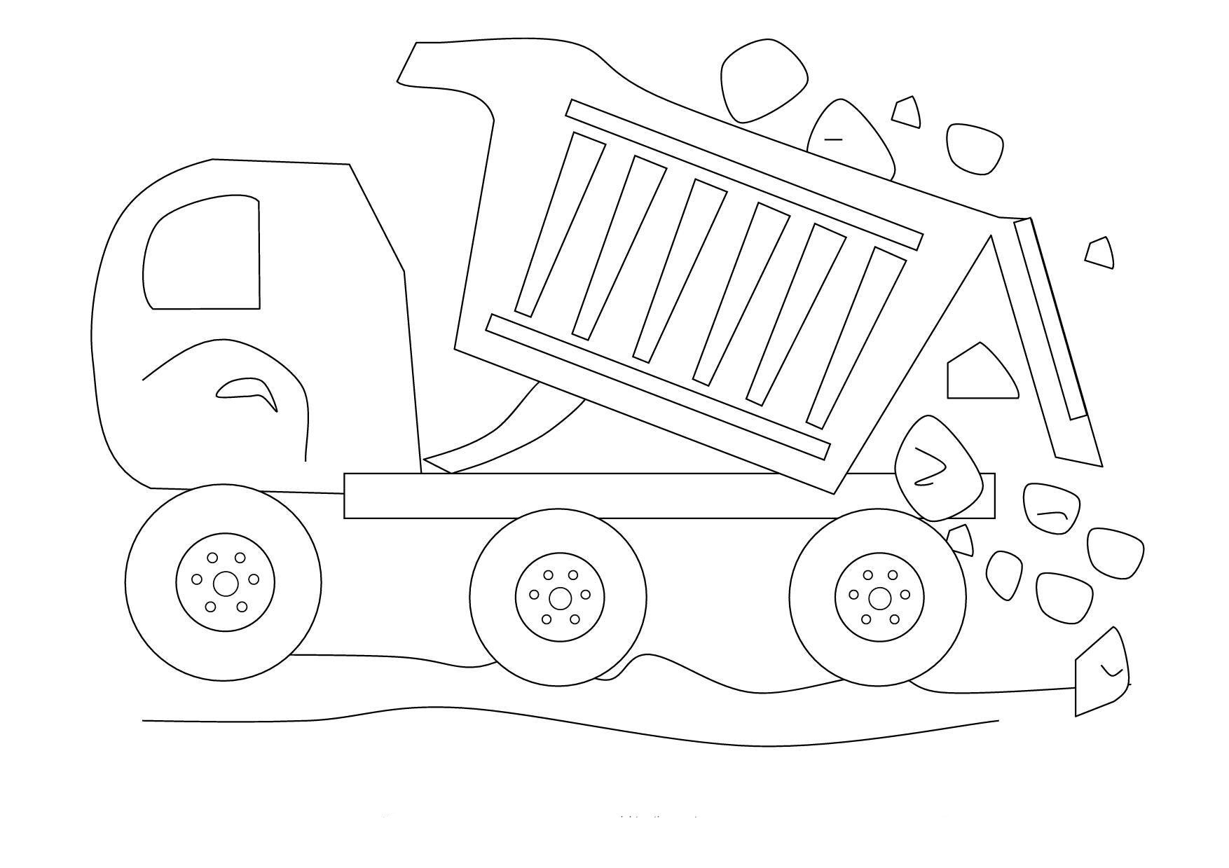 dirty dump truck coloring pages trucks - Construction Trucks Coloring Pages