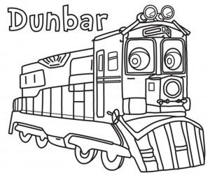 Dunbar Chuggington Coloring Pages