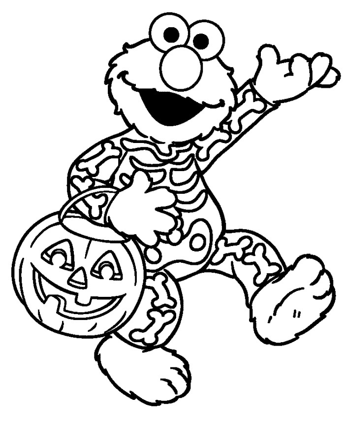 Elmo Halloween Coloring Page