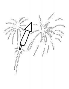 Fireworks Coloring Page Free