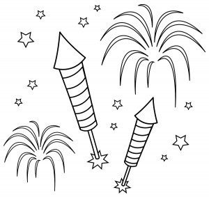 fireworks coloring pages print